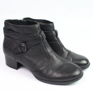 Born Concept Faywood black leather ankle bootie
